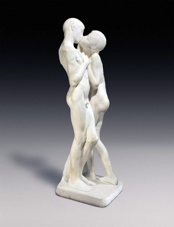 Axel Poulsen, Marmorfigur Erste Liebe, 1913