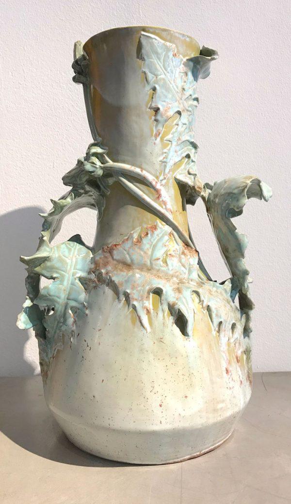KPM-Vase mit Löwenzahn, Gottlieb Elster 1899