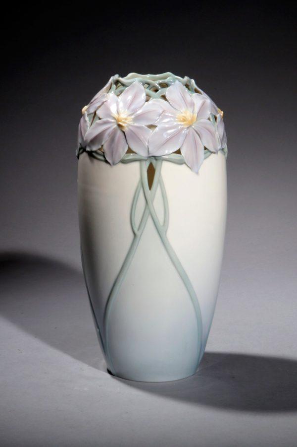 KPM-Vase mit Anemonen, um 1901