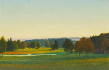 Georg Schrimpf, Landschaft bei Aibling, 1931