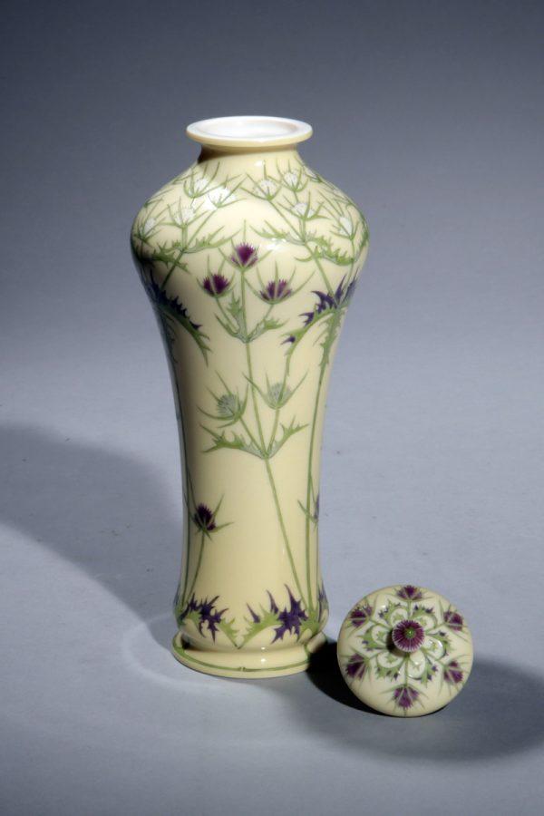 Sèvres, Deckelvase, Jugendstil um 1900