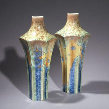 Sèvres, Vasenpaar mit Kristallglasur, um 1900