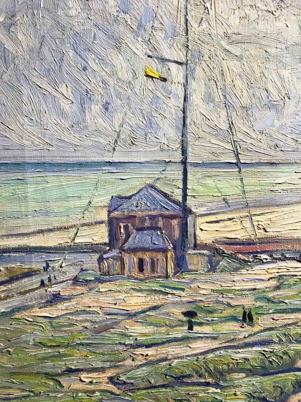 Theo von Brockhusen, Hafeneinfahrt in Nieuwpoort, um 1910