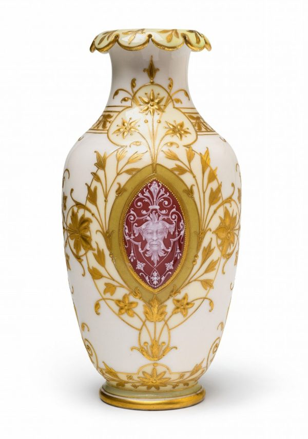 KPM-Vase mit Pâte-sur-Pâte-Malerei KPM Berlin vor 1900