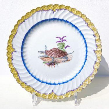 Speiseteller mit Schildkröte, Japanisches Service, Friedrichs der Große, Meissen 1763
